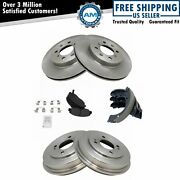 Front And Rear Posi Metallic Disc Brake Pads Rotors Shoes And Drum Kit For Civic