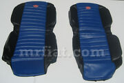Fiat 600 Blue Anatomical Seat Covers Set New