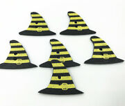 Halloween Wooden Sewing Witch Hat Shape Decoration Crafts Sewing 29mm