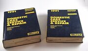1991 Mitchell Gm Chrysler Ford Domestic Cars Service And Repair Manuals Vol 1 And 2