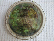 "VTG McCarty McCarty's Ms pottery green brown water finish 5.75"" saucer"