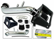Bcp Black For 2015-2020 Ford F150 5.0 V8 Heat Shield Cold Air Intake Kit +filter