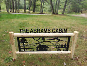 Cabins - Rustic Log Sign - Clingermans Personalized Log Cabin Signs