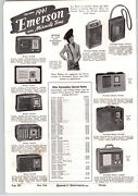 1941 Paper Ad 3 Pg Emerson Miracle Tone Radio Portable Console Admiral Table
