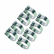 8 X Mikalor Stainless Heavy Duty Coolant/exhaust Clamps Suprapro 23mm - 25mm
