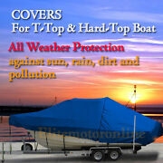 Cape Horn 19 Center Console T-top Hard-top Fishing Storage Boat Cover Blue