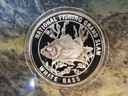 White Bass North American Fishing Club Grand Slam Silver Plate Collector Coin