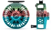 Abel Super 4/5 Fly Fishing Reel In Rainbow Trout Color Free 130 Line Shipping