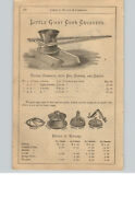 1890and039s Paper Ad 3 Pg Little Giant Corn Crusher Parts Repair Eagle Hand Sheller