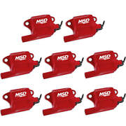 Ls2/ls7 Msd Red Pro Power Coils For Gm, Pack Of 8 82878