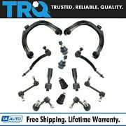 Trq 14 Piece Steering And Suspension Kit Control Arms Tie Rods Sway Bar Links New