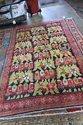 Antique Caucasian Karabagh 4and03910 X 7and039 Hand Knotted Wool Rug Bold And Beautiful