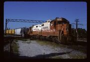 Original Slide Icg Illinois Central Gulf Gp8 7852 And 1 Action In1987 At Harvey Il