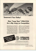 1964 Paper Ad Structo Toy Truck Army Searchlight Cannon Trucks Soldiers