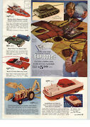 1963 Paper Ad Ford Farm Tractor Toy Industrial Scale Model Japan Amphibios Car
