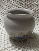 "Handmade Small Pottery Vase or Bowl:  3 1/4"" Tall, Initialed and Dated"