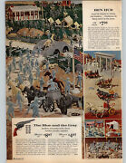 1962 Paper Ad Ben Hur Play Toy Set 132 Pc Civil War Blue And Grey Soldiers Grant