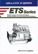 Sewing Machine Brochure - Willcox And Gibbs - Ets 52 32 - Overedgers 1986 E3926