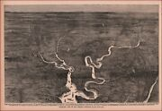 Map, Balloon View, Virginia Civil War Campaign Area, All Identified, 1894