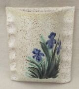 Signed Handcrafted Pottery ~ Pocket Vase With Iris