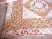 Museum Quality Dated 1870 Mariners Compass Quilt Ohio Fabulous Condition