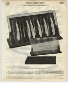 1926 Paper Ad 4 Pg Henry Sears And Son 1865 Store Display Straight Razor Showcase