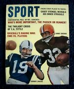Sport Magazine {december 1962} Johnny Unitas And Jim Brown On Cover