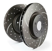Ebc Turbo Grooved Front Solid Brake Discs For Morgan Plus 4 2.1 66 69