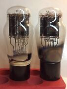 Pair 2 2a3 Tube French Rt Vintage Triode 1951 Hanging Filament