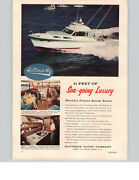 1961 Paper Ad 41' Hatteras Yacht Motorboat Boat Bundy 500cc Outboard Motor Italy