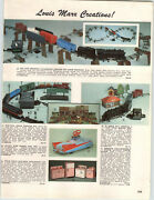 1961 Paper Ad Marx Toy Locomotive Train Set Electra-matic Pedal Car Battery Op