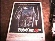Friday 13th 1 Original Rolled 27x41 Movie Poster And03980