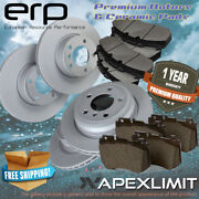 Front+rear Rotors And Ceramic Pads For 1999-2004 Ford F-150 4wd 5-lug 14mm