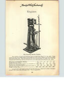 1900s Paper Ad The Sterling Marine Motor Boat Williams Inverted Steam Engine
