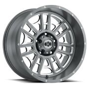 20 Vision 418 Widow Grey Milled Wheel 20x12 5x5.5 -51mm Lifted Ford Dodge Truck