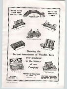 1938 Paper Ad Toy Doughboy Army Tank Soldiers In A Fort Barge Newton And Thompson
