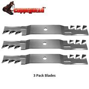 3 Pk Copperhead Mulch Blade Fits Exmark 50and039 Quest 115-5059 115-5062 Usa Made