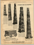 1894 Paper Ad Paper Soldiers Cut Out Toy Picture Cubes Blocks Little Bo Peep