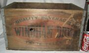 Antique Windham Dry Beverages Ct Usa Wood Beer Bottle Art Sign Box Crate Carrier