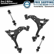 4 Piece Suspension Kit Front Lower Control Arms Sway Bar Links For Ford Lincoln