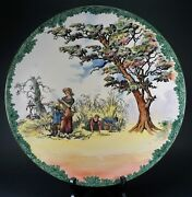 Royal Doulton Old English Scenes The Gleaners 15 1/4 Wide Plate Charger Rare
