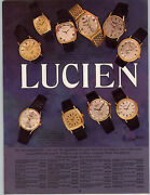 1969 Paper Ad 6 Pg Lucien Piccard Wrist Watch Dufonte 20 Gold Coin Sea -shark