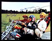 Easy Rider Nicholson Hopper And Fonda Signed Autographed 11x14 Photo Bas Certified