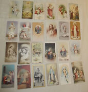 24 Vintage Holy Cards Color Sepia Sacred Heart Blessed Virgin Mary Very Fine