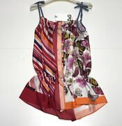 Dandg Girls New Kids Butterfly And Stripe Combo Dress Outfit Sz 4 Rtl 295 Q12