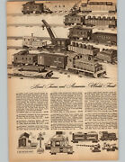 1955 Paper Ad 6 Pg Train Lionel Marx Diesel Steam Freight Wabash Ny Central
