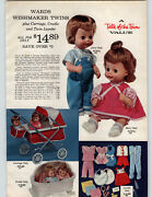 1964 Paper Ad Doll Wishmaker Twins Cradle Name Me Rooted Hair Jointed Moving Eye