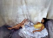 William Russell Flint Cecilia Reclining Unframed Limited Edition From 2000