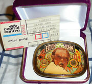 Elton John Pinball Wizard Tommy Album Rock Band Concert Buckle Song Ticket Who P