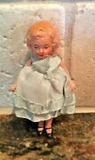Antique German Bisque Doll House Girl Jointed Original Clothes
